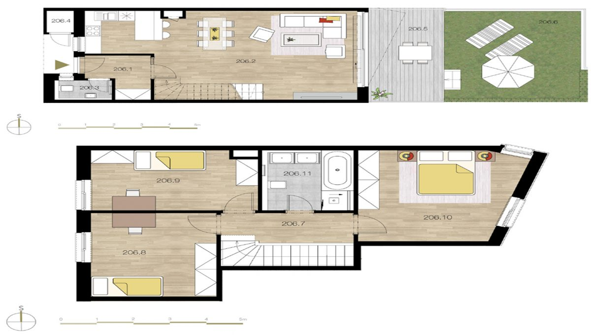 2+kk apartment 54 m²- Hlubočepy, Prague 5